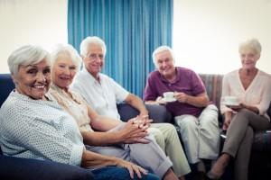Portrait of a group of seniors