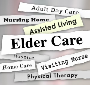 Elder Care Assisted Living Nursing Home Hospice Headlines 3d Illustration